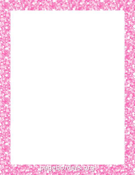 pink glitter border clip art page border  vector