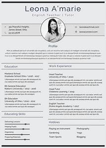 Nice Resume Templates Free English Teacher Resume Cv Template In Photoshop Psd