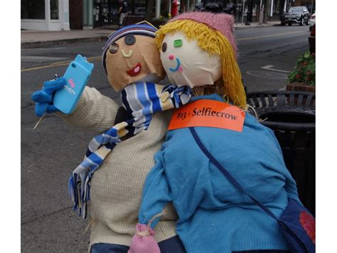 cranfords creativity shines  annual scarecrow stroll