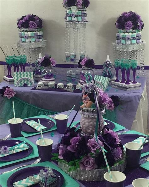 Purple And Teal Baby Shower Decorations by Baby Pacifier Centerpiece Purple By Platinumdiapercakes