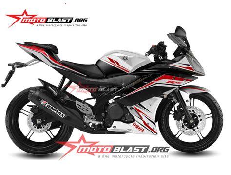modif striping yamaha r15 rwb white black motoblast