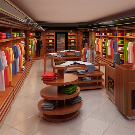Style X Shop clothing store interior for and render 3d model