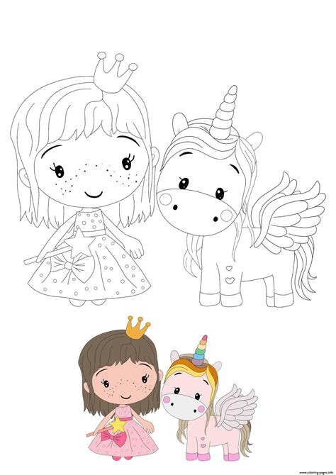 princess  unicorn coloring pages printable