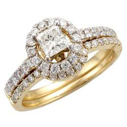 and wedding ring sets gold wedding ring sets for and groom k white gold ct tdw halo bridal ring set