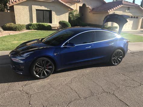 Download Tesla 3 Blue Metallic Pictures