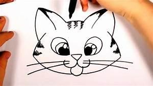 Cute, Cat, Face, Drawing