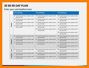 10 30 60 90 day plan template word time table chart With first 90 day plan template