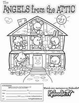 Attic Coloring Angels Pages Meet sketch template