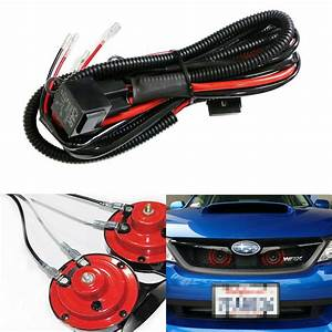 12v Horn Wiring Harness Relay Kit For Car Truck Grille