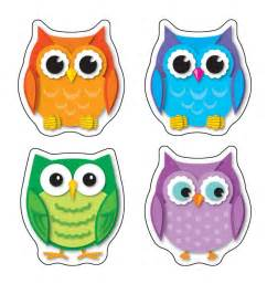 Halloween Board Books For Toddlers by Colorful Owls Shape Stickers By Carson Dellosa Cd168078