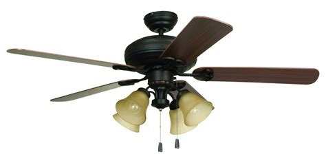 craftmade four light bronze ceiling fan aged bronze