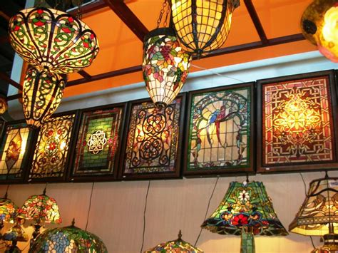 Stained Glass Ceiling Fan Light Shades Home Design