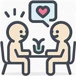 Dating Date Icon Dinner Valentine Heart Restaurant