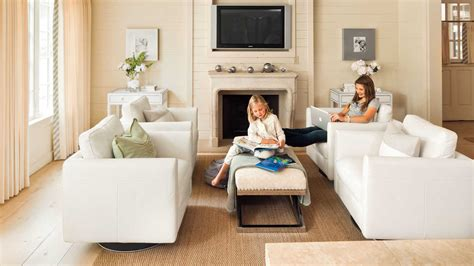 use flexible furniture in a great room 106 living room
