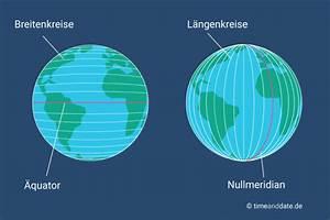 Breitengrad Berechnen : l ngengrad und breitengrad erkl rung ~ Themetempest.com Abrechnung