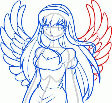canap hanjel как рисовать девушку ангела из аниме по шагам как легко