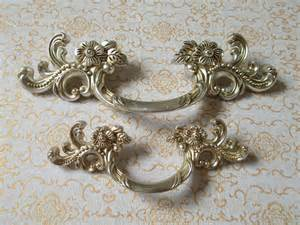 3 quot dresser pulls drawer handles antique silver flower