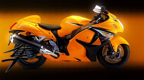 Free Yellow Hayabusa Motorbike Wallpaper