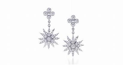 Tiffany Earrings Sunburst Lace