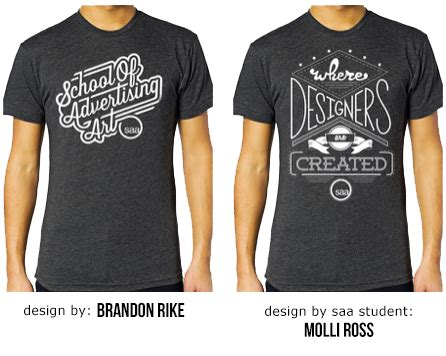 t shirt graphic design saa a nationally recognized graphic design college saa