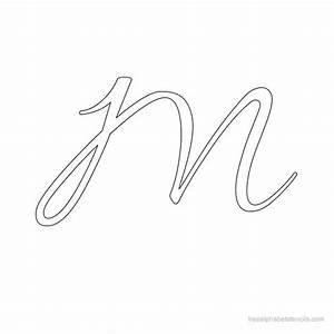 Allura Cursive Alphabet Stencils   FreeAlphabetStencils.com
