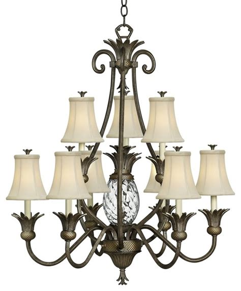 Hawaiian Chandelier by Hinkley Plantation Collection Two Tier Chandelier