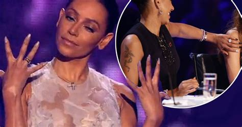 where is mel b s wedding ring x factor judge returns to