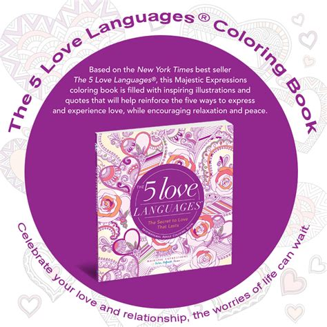 inspirational adult coloring book   love languages