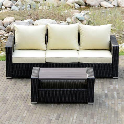 Outdoor Sofa Rattan by Diy Outdoor Patio Sofa Sectional Furniture Pe Wicker