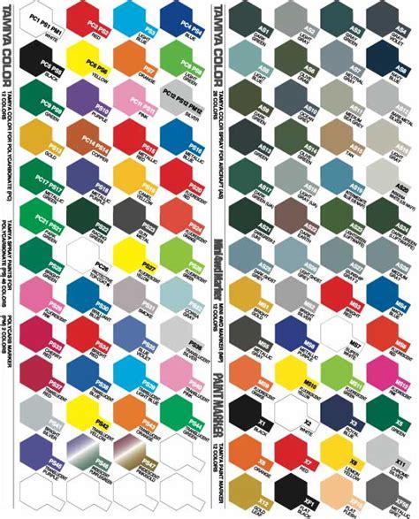 tamiya paint color chart tamiya paint colour charts enamel acrylic