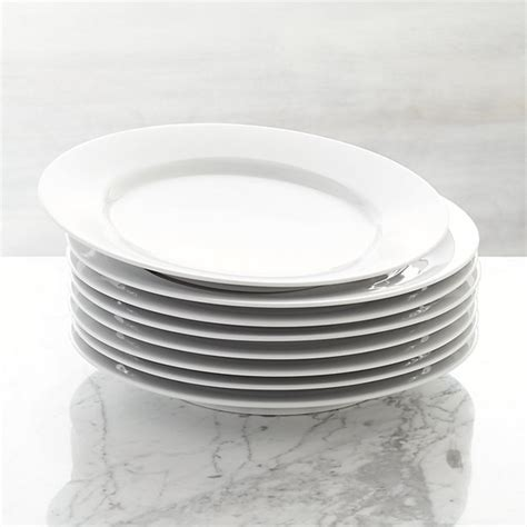 dessert tray silver set of 8 aspen dinner plates crate and barrel