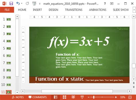 animated math equations  powerpoint