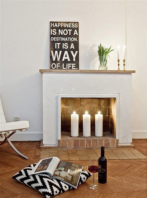 home decor  list  fireplace cozy candles