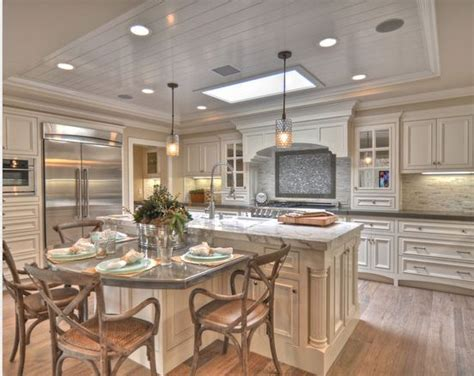 kitchen table island combo kitchen pinterest