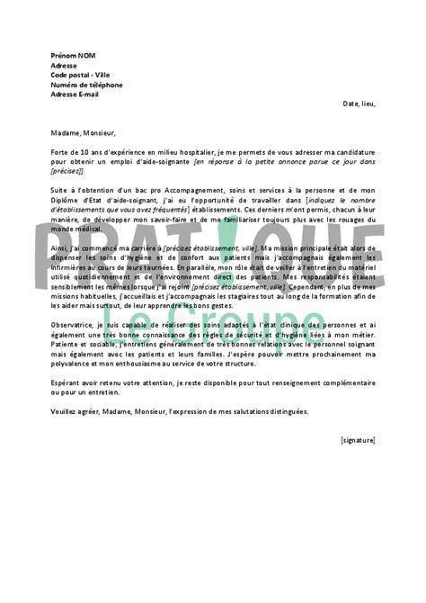 lettre de motivation aide de cuisine lettre de motivation type pour un emploi d 39 aide soignante