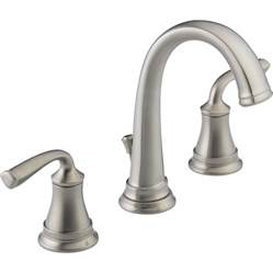 shop delta lorain stainless 2 handle widespread watersense bathroom sink faucet drain included