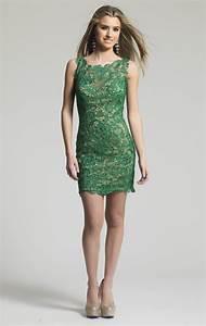 Formal Short Lace Emerald Green Cocktail Dresses Vestido ...