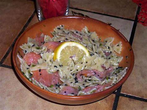 recette de salade de p 226 tes au saumon fum 233