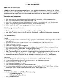 Resume Descriptions For Registered Nurses by Doc 638479 Responsibilities Restraints Nurses