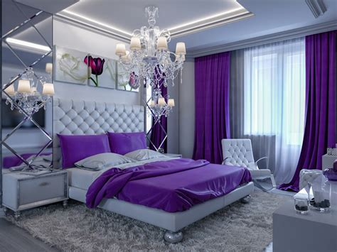 bright floral curtains 25 purple bedroom designs and decor designing idea