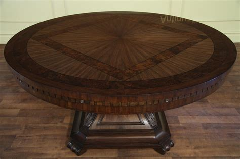 high top dining room table with leaf large round mahogany and walnut perimeter table