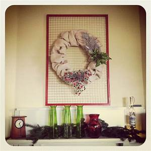 Burlap, Wreath, On, A, Chicken, Wire, Frame, Perfect, Simplicity