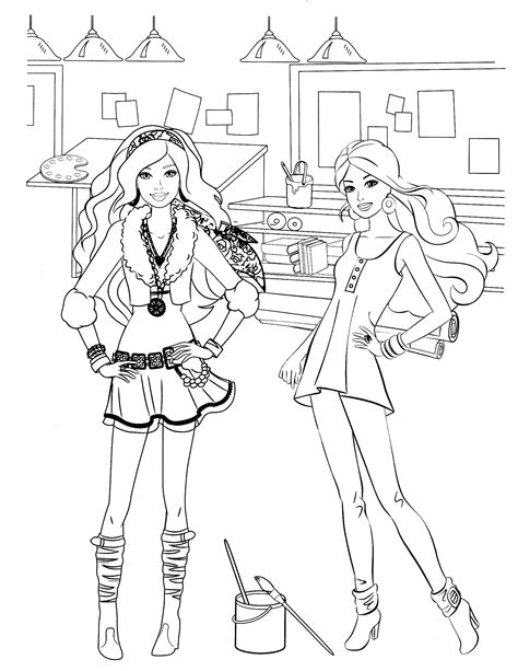 barbie coloring page color me happy pinterest