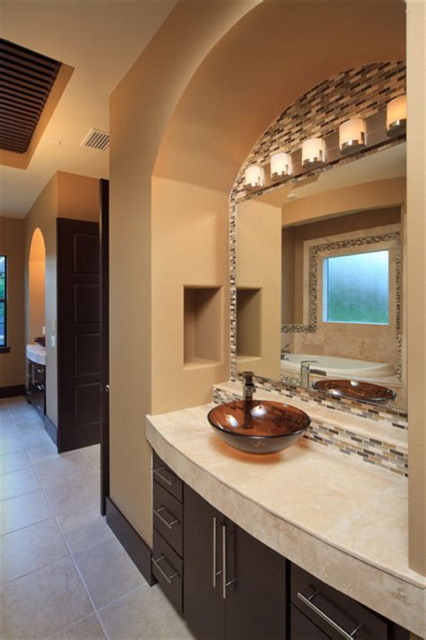 modern mediterranean home contemporary bathroom