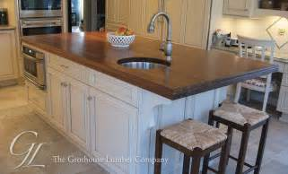 countertops for kitchen islands large walnut wood countertop kitchen island in new jersey