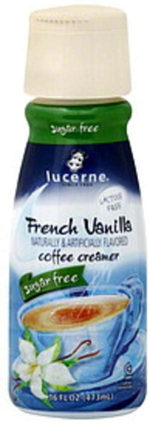 2,000 calories a day is used for general nutrition advice. Lucerne Sugar Free, French Vanilla Coffee Creamer - 16 oz ...