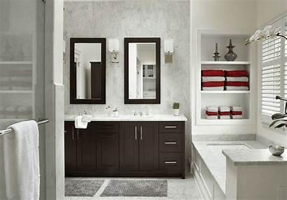 Bathroom Master Contemporary Built Shelves Wall Transitional