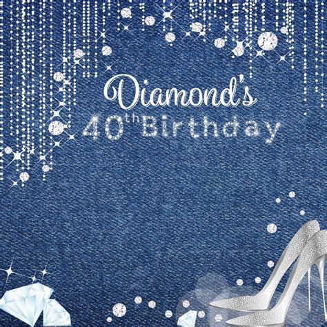 Denim Backdrop by Denim Diamonds Photo Backdrops 40th Birthday