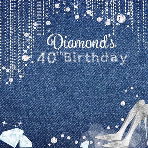 Backdrop Denim Themed by Denim Diamonds Photo Backdrops 40th Birthday