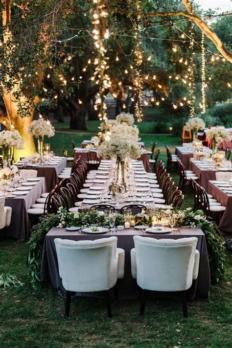 yard wedding reception